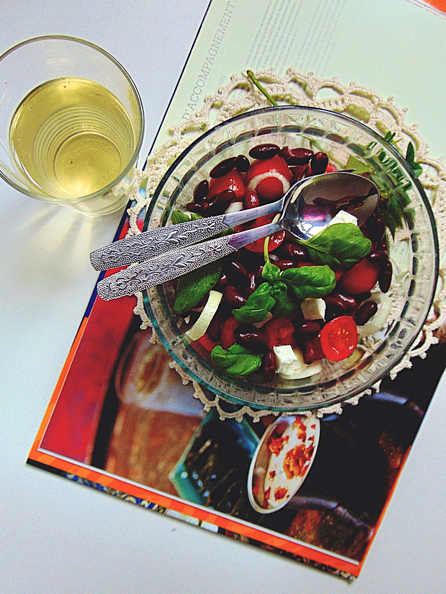 Salade aux haricots rouges.
