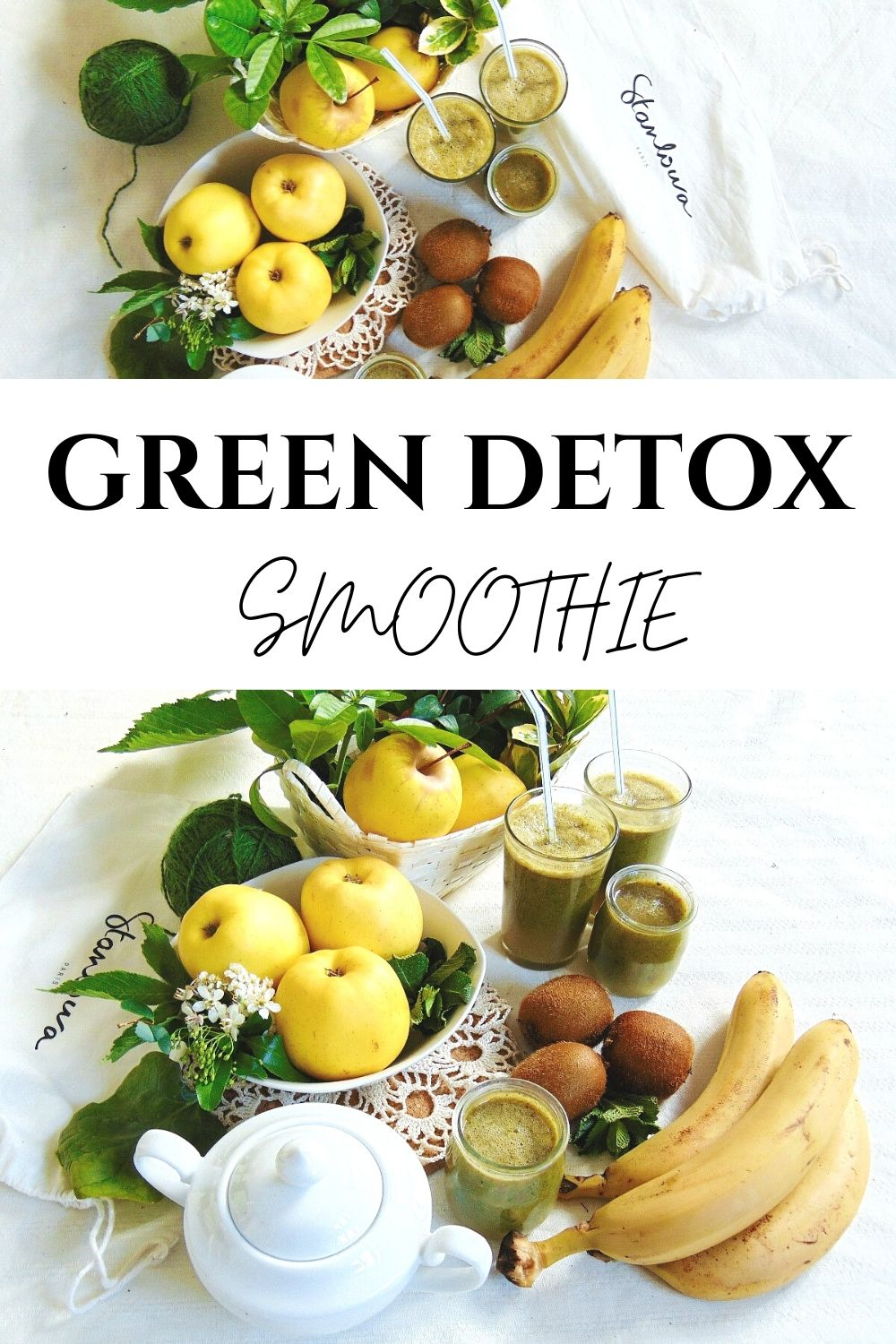 How to make an apple & spinach detox smoothie